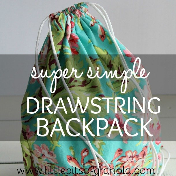 Super Simple Drawstring Backpack