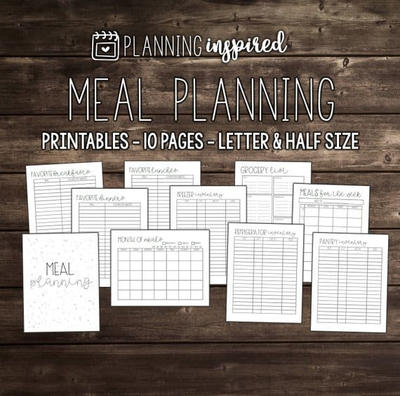 10 Page Printable Meal Planner