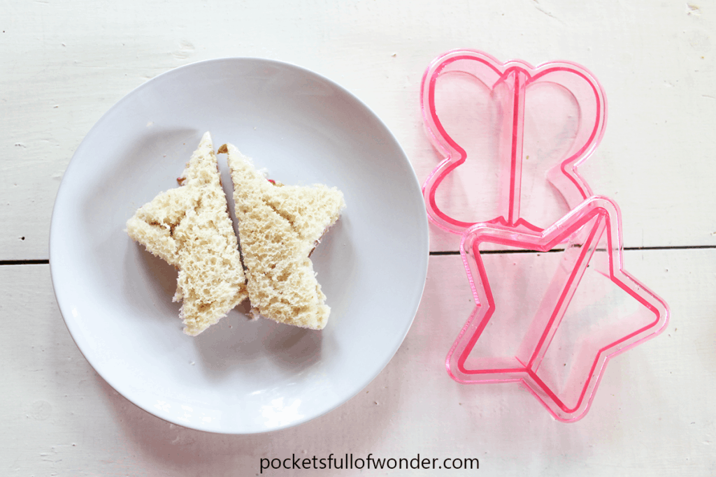 Fun kids lunches with sandwich shape cutters.